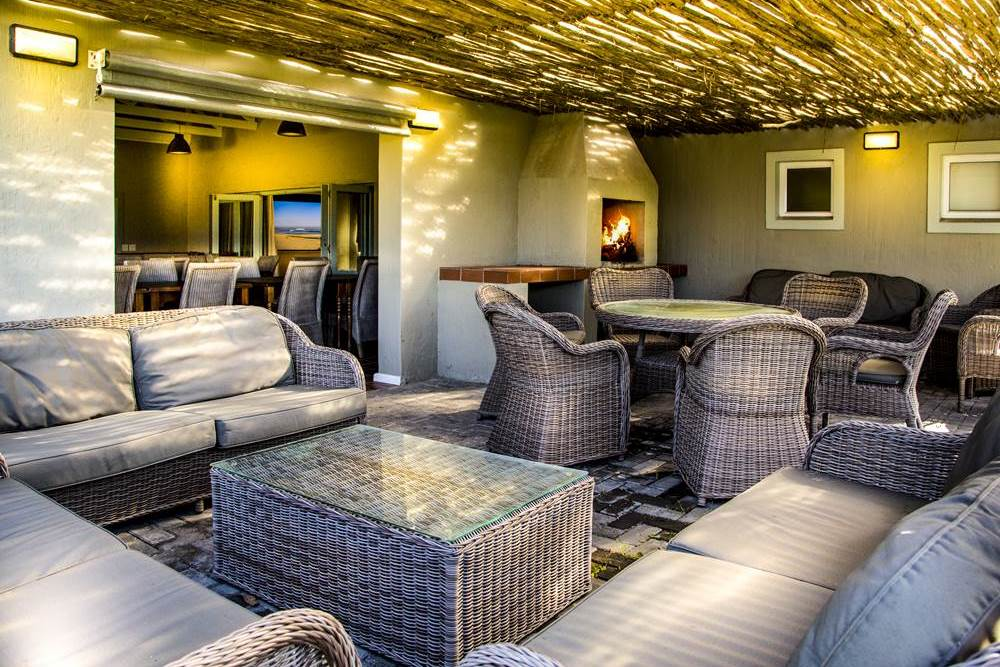 Braai Area at Cannon Rocks Beach Suites Self Catering