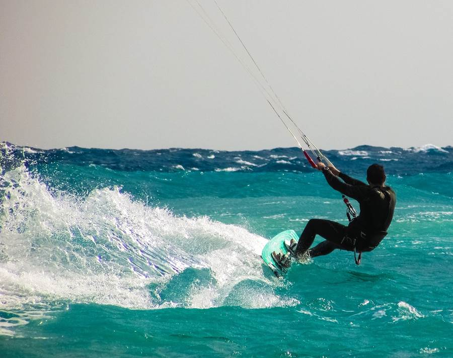 Kite Surfing at Cannon Rocks