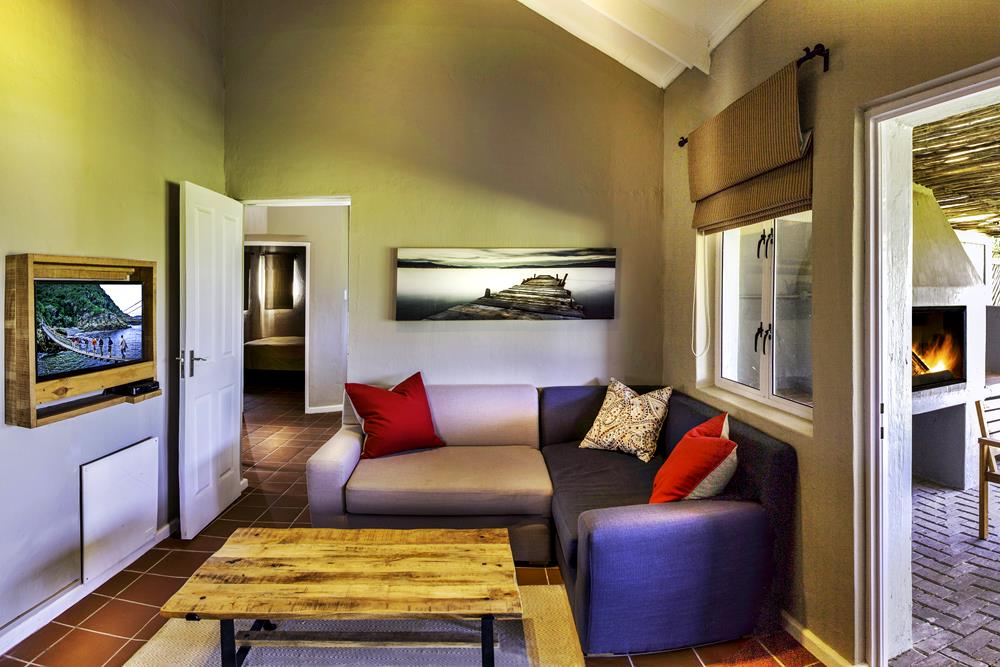 Living room at Cannon Rocks Beach Suites Self Catering
